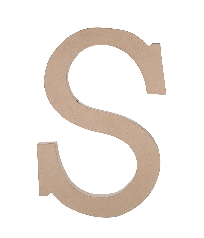 Darice 2860-S Paper Mache, 23.5-Inch, Letter S