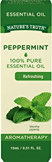 Nature's Truth Aromatherapy 100% Pure Essential Oil, Peppermint, 0.51 Fluid Ounce