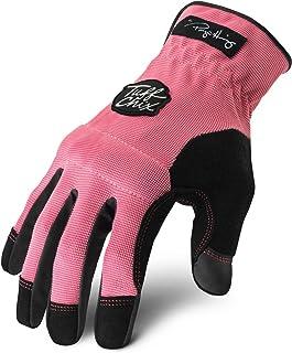 Ironclad Tuff Chix Women's Work Gloves TCX, Designed for Women's Hands, Performance Fit, Durable, Machine Washable, Sized S, M, L, XL (1 Pair)