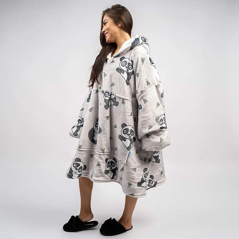 ZYHBJH Couverture à Capuche, Sweat surdimensionné, Couverture Sherpa Portable Chaude Super Douce, Sweat à Capuche géant Confortable,Kid Adult