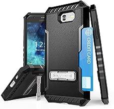TJS Phone Case for Samsung Galaxy J3 Emerge/J3 Prime/Amp Prime 2/Express Prime 2/Sol 2/J3 Mission/J3 Luna Pro/J3 Eclipse, Shock Absorbing Kickstand Silicone Inner Layer (Black)