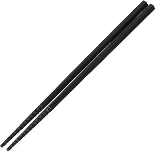 曙産業 箸 黒 24cm 日本製 業務用品 先端のグルグルの溝ですべらずしっかり掴める トルネード箸 GM-4054