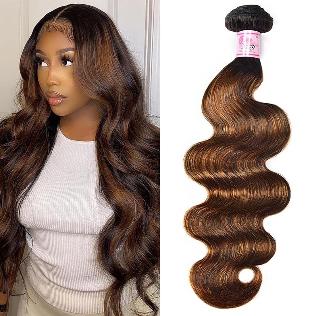 Beauty Forever FB30 Highlight Indian Hair Wave Atlanta Mall Max 65% OFF Weave Human Body