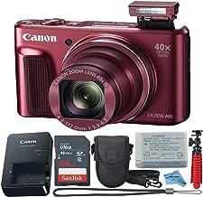 Canon Powershot SX720 (rojo) - Cámara digital de punto y disparo + paquete de accesorios + paño digital inspirador