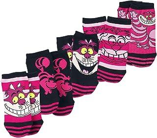 Alice im Wunderland, Alicia en el País de las Maravillas Gato Chesire Mujer Calcetines rosa/negro, ,