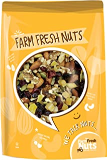 Farm Fresh Nuts Omega Health Trail Mix - Natural Energy Snack Mix - A Heavenly Healthy mix, Featuring Walnuts, Almonds, Pe...