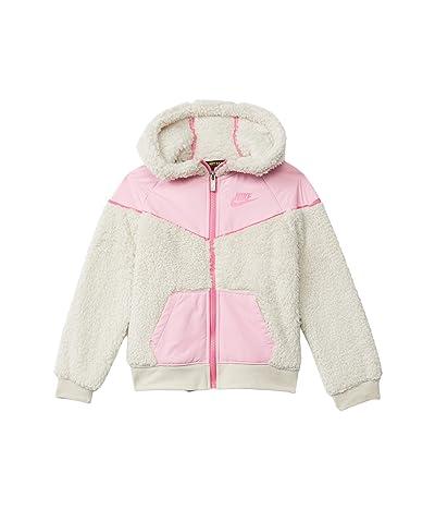 Nike Kids Sportswear Sherpa Fleece Windrunner Jacket (Little Kids) (Light Orewood Brown) Girl