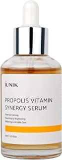 IUNIK Propolis Vitamin Synergy Serum with natural ingredients with Propolis extract & Hippophae rhamnoides fuit extract - Skin soothing + Nutrition + Vitality at once - 1.71 OZ