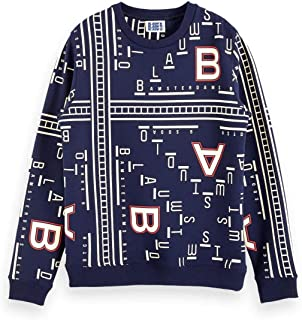 Scotch & Soda Men's Allover Printed Crewneck Sweat Sweatshirt