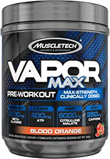 Pre Workout Powder, MuscleTech Vapor MAX, Pre Workout Powder for Men & Women with L Citrulline Malate and Beta Alanine for...