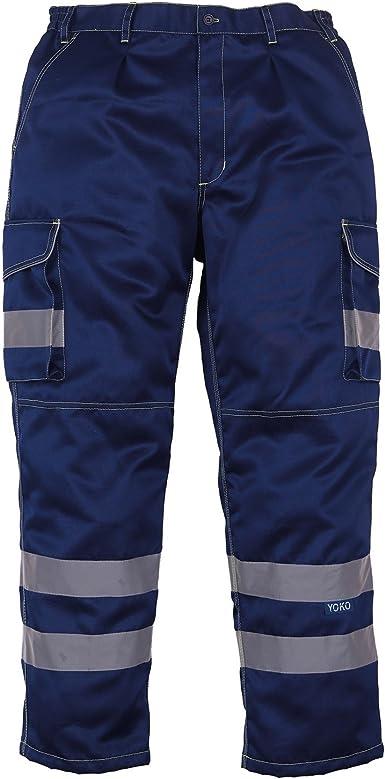 Amazon Com Yoko Pantalones De Trabajo Para Hombre Polialgodon 2 Unidades Clothing