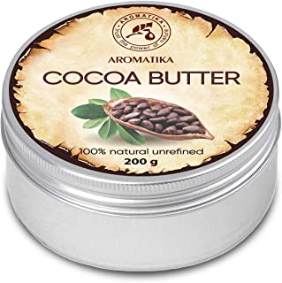 Cocoa Butter 200g South Africa - Cocoa Butter Unrefined - Native Pure & Natural Cacao butter for Lip Care - Stretch Marks - Hair - Body Butter
