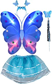 THEE Girls Butterfly Angel Wing Costume Set Stage Props Halloween Costume