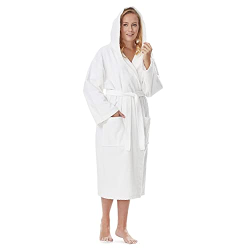3d5046bdcc Arus Women s Classic Hooded Bathrobe Turkish Cotton Terry Cloth Robe