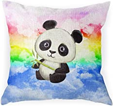 WIRESTER Sofa Pillow Case, Decorative Throw Pillow Cushion Cover for Home Office 18 x 18 Inch, Baby Panda (Style 2)