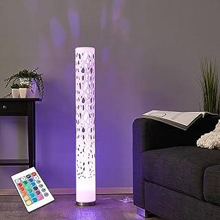 Lindby LED Stehlampe dimmbar mit Fernbedienung | RGB Farbwechsel | Lichtsäule Wohnzimmer | Standleuchte inkl. 1 x GU10 3W ...