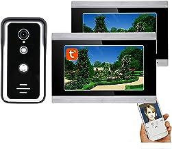 7 Inch Wifi Video Deurtelefoon Systeem, Video Deurbel, Outdoor Nachtzicht Camera + 2 LCD Monitor, Tuya APP Unlock, Intercom