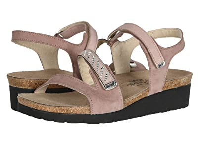 Naot Kendall Wide (Mauve Nubuck Combination/Silver Stones) Women