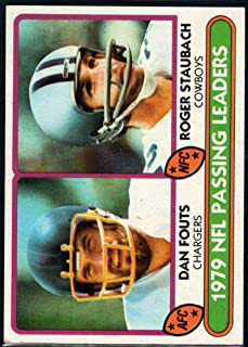 Football NFL 1980 Topps #331 Dan Fouts/Roger Staubach 1979 Passing Leaders