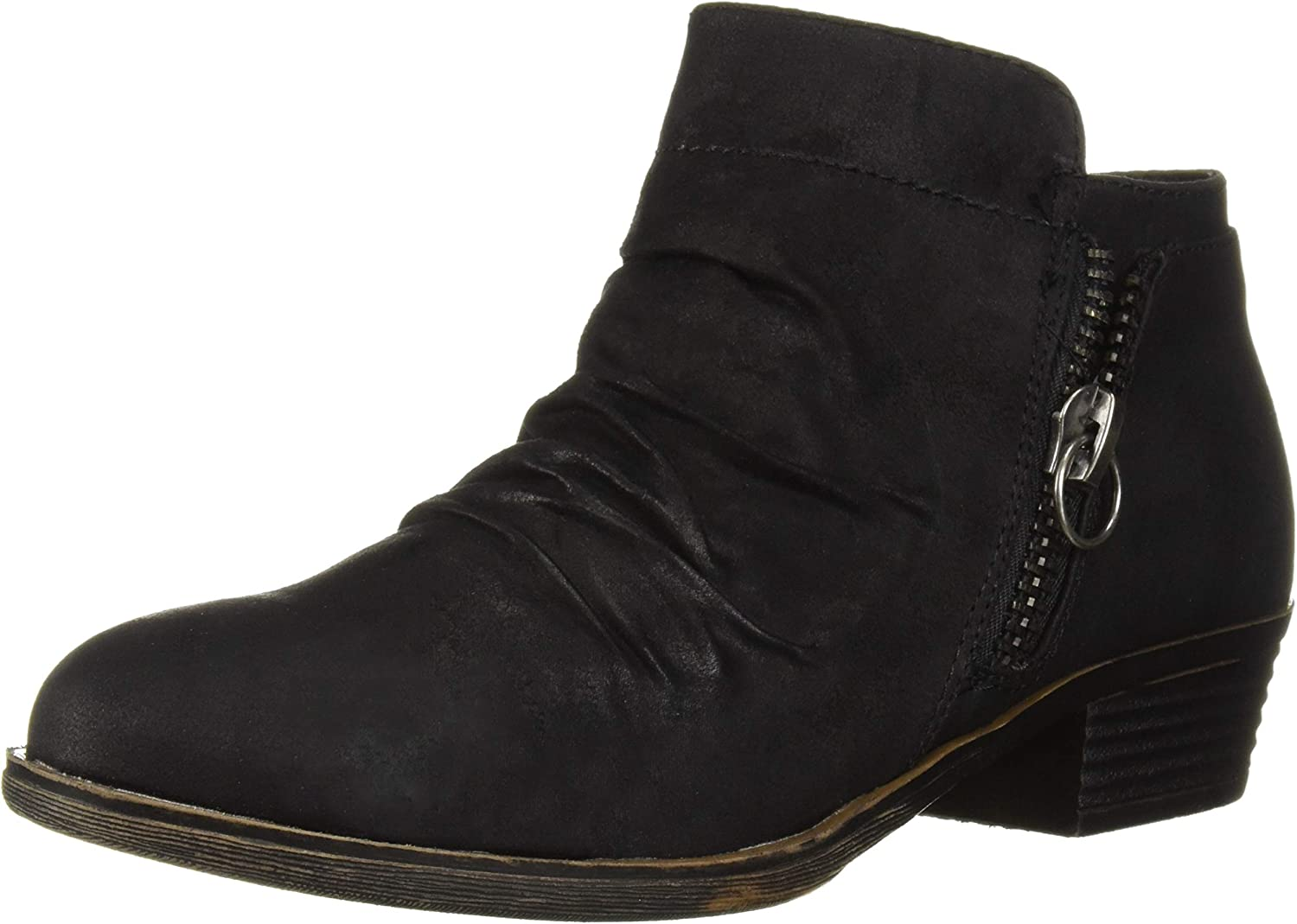 Sugar Trust Me Women's Casual Ruched Scrunch Ankle Bootie