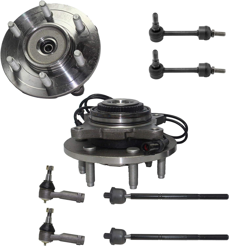保証 Detroit Axle - Pair 2 Front Bearing and Wheel Hub 買い取り Assemblies w