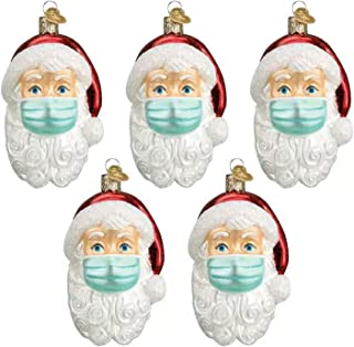 2020 Santa Claus Ornaments Santa with A Mask Christmas Holiday Decorations Christmas Tree Home Decor Xmas Gifts for Family,C
