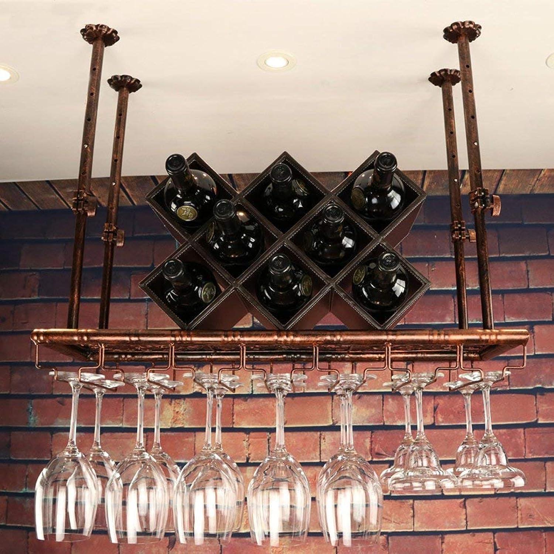 Estante para copas de vino Colgante inverdeido, portavaños inverdeido Barra Estante para copas de vino Estante para copas de vino, colgante Decoración Negro, Bronce (60 cm, 70 cm, 80 cm, 100 cm, 120 cm,