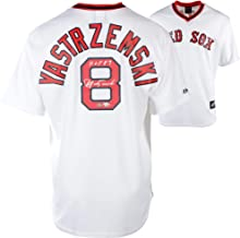 Carl Yastrzemski Boston Red Sox Autographed Cooperstown Collection White Throwback Jersey with
