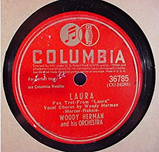 Woody Herman & His Orchestra Very Nice Original 10 Inch 78 rpm - Laura / I Wonder - Columbia Records 36785 - 1945