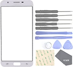 VEKIR Cell Phone Replacement Top Front Outer Glass Screen for Samsung Galaxy J7 Prime G610F G610Y(White)