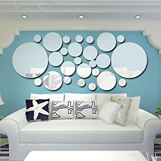26pcs/set Acrylic Polka Dot Wall Mirror Stickers Home Party Decor Art Mural Stickers DIY Decals Art Decal Room Decoration