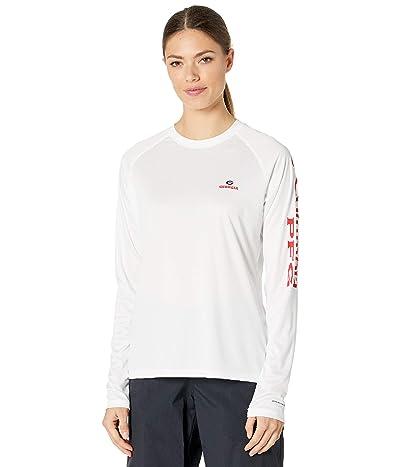 Columbia College Georgia Bulldogs Collegiate Tidal Long Sleeve Shirt (White/Bright Red) Women