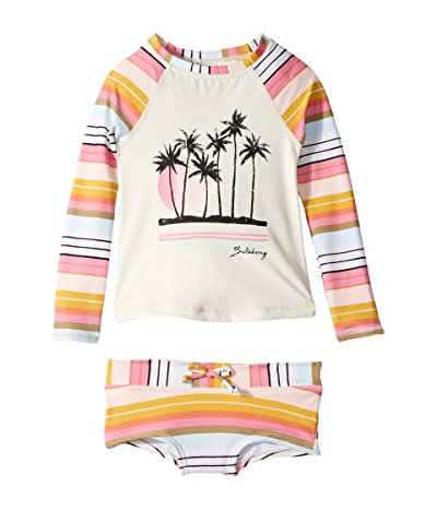 Billabong Kids Sunny Song Long Sleeve Rashguard Set (Little Kids/Big Kids) (Multi) Girl
