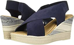 Navy Italian Suede Leather