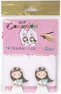 Edima - Bolsa con 12 etiquetas y lazo, Mi Primera Comunión DIY (410722-B)