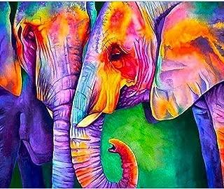 SWEETHOMEDECO Diamond Painting, Diamond Painting Kits for Adults, Diamond Painting Elephant, Painting with Diamonds, 15.7