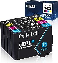 Eejetch Compatible 603XL Tinta Reemplazo para Epson 603 XL Cartuchos de Tinta para Epson Expression Home XP-3100 XP-4100 XP-2100 XP-2105 XP-3105 XP-4105, Workforce WF-2810 WF-2830 WF-2835 WF-2850