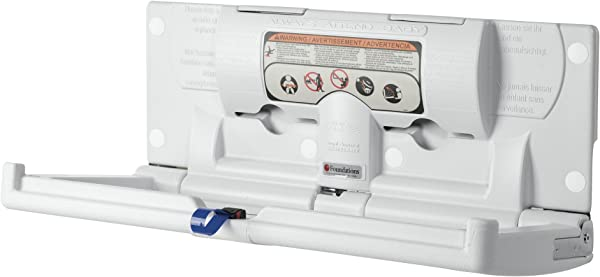 SafetyCraft Wall Mounted Baby Changing Station Horizontal