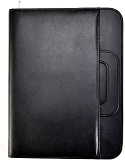 Arpan A4 Black Conference Folder for Personal, Executive, Professionals, Corporate, Businesses, A4 Soft Touch Portfolio Case with Portable Handle, Calculator & Pad, Ideal for Business Conferences and Travelling (34 x 25 cm)