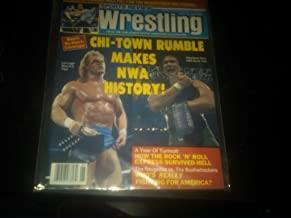 Sports Review Wrestling June 1989 (Chi-Town Rumble Makes NWA History, Lex Luger vs Ricky Steamboat, Rock 'N' Roll Express survived Hell, The Twin Towers will pay for the Megapower Meltdown Hulk Hogan & Macho Man Randy Savage, Elizabeth WWF WWE WCW TNA ECW NWO NWA)