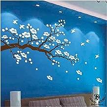 "Kayra Decor ""Wishful White Flowers"" Reusable Wall Stencil (36x78-inch, Plastic Sheet)"