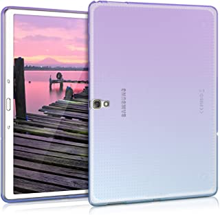 kwmobile TPU Silicone Case for Samsung Galaxy Tab S 10.5 T800 / T805 - Soft Flexible Shock Absorbent Protective Cover - Violet/Blue/Transparent