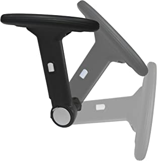 Height Adjustable Office Chair Armrest w/ Arm Pads (Pair) S4761-K - Replacement Arms