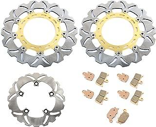 TARAZON Front Rear Brake Rotors Discs Set for Yamaha YZF R1 2007-2014 YZF R6 2005-2016