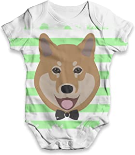 TWISTED ENVY Shiba Inu Baby Unisex Printed All-Over Print Bodysuit Baby Grow Baby Romper