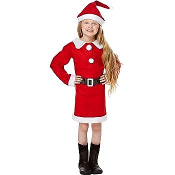 Santa - Disfraz de Papá Noel para niña, talla 7 (134): Amazon.es ...