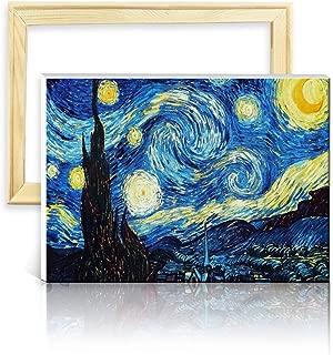 ufengke Kit Pintura de Diamantes 5D Noche Estrellada Punto de Cruz Diamante Completo DIY para Amantes del Arte, con Marco de Madera, Diseño 25x35cm