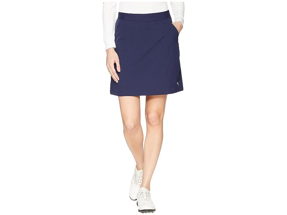 PUMA Golf 18 Pounce Skirt (Peacoat) Women