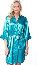 Women's Robe Silky Satin Lightweight Kimono for Bride Bridesmaid Bridal Wedding Party and Plus Size Woman