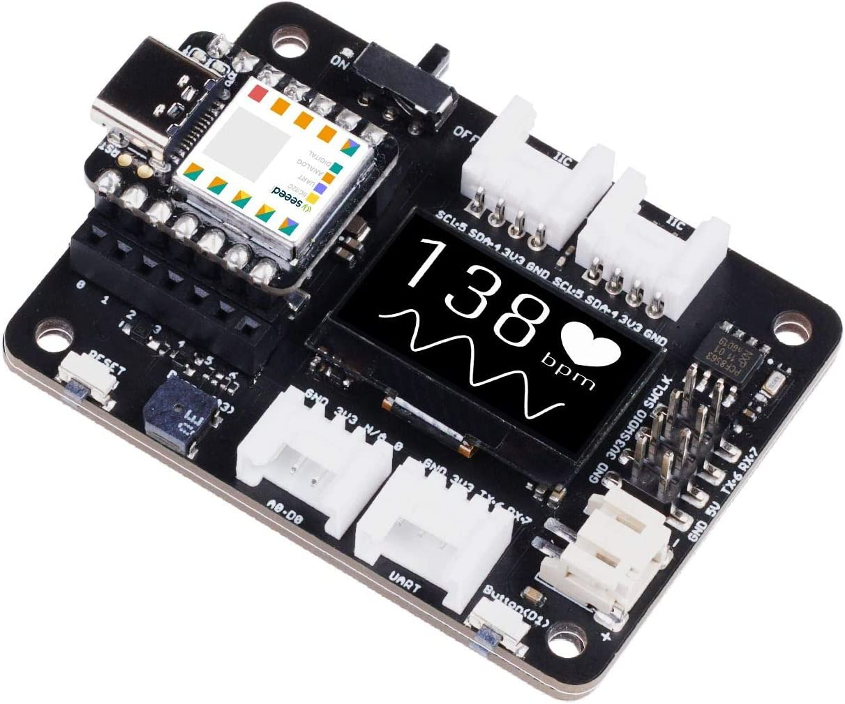 Seeeduino XIAO Expansion Board Quick Prototyping Rich peripherals No Soldering Needed Circuit Python Supported